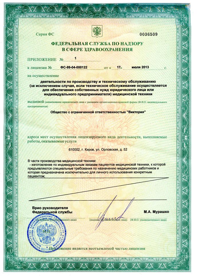 медицинская лицензия для салона оптики